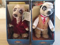 Compare the Market Meercat Aleksandr and Yakov plush toys boxed with certificate