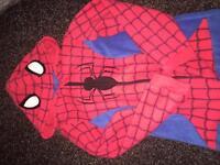 Spider-Man fleece onsie 6-7years As New