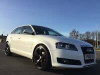 Audi A3 2.0 TDI Sport Sportback 5dr WHITE WITH BLACK ALLOYS