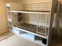 Bunk Bed with Draws and Shelves