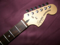 Fender Squier Hot Rails Stratocaster Guitar Neck + Tuners.