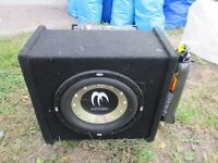 """10"""" Sub in Enclosure with 500 watt Amp For Sale"""