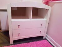 White mothercare baby changing unit
