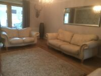 Quality Leather Suite, 3 sofas & 1 armchair