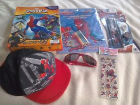Spiderman Bundle My Busy book hat sunglasses new activity pack, stationery set and stickers