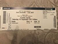Joel Dommett Live at Eventim Apollo London Saturday 16th September Stalls Row U Seats 15-17