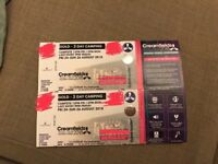 Creamfields Gold - 3 Days Camping £550 inc parking & postage