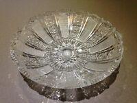 Cut crystal dish