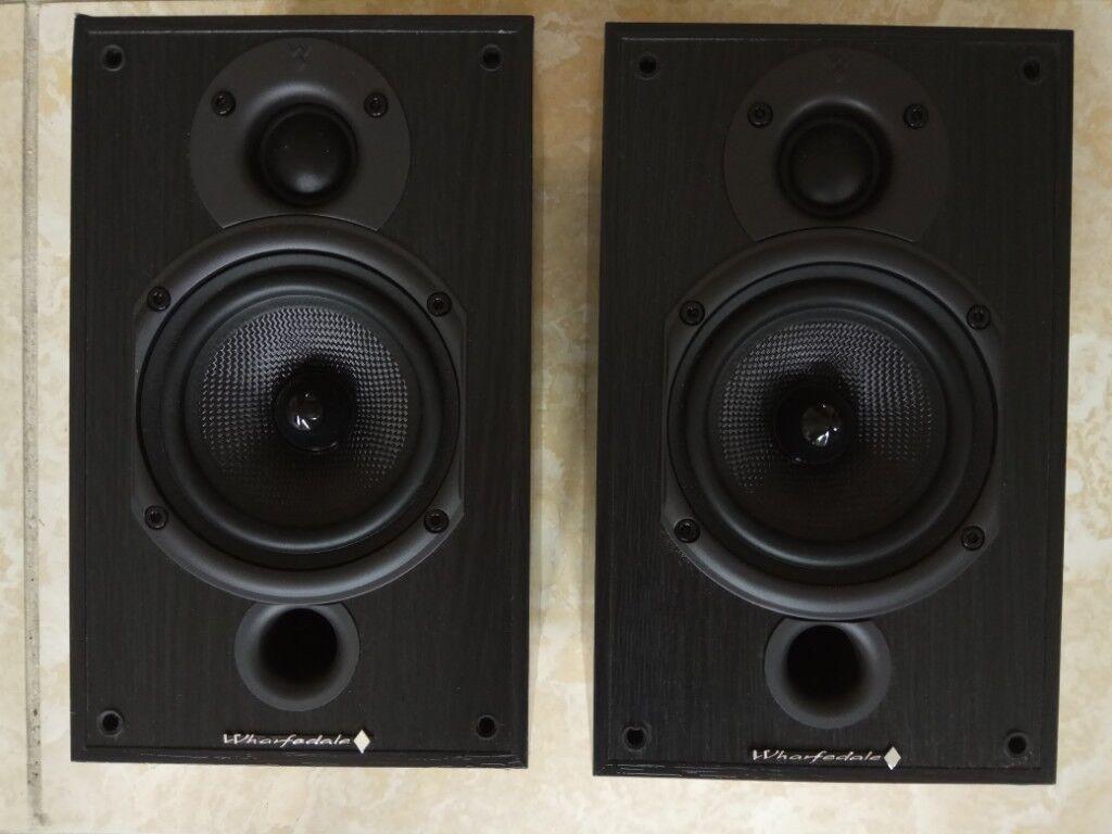 Wharfedale Diamond 9 0 Black Hi Fi Stereo Small Bookshelf Speakers