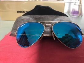 d307441091 Polarised Ray Ban Aviators- limited colour run