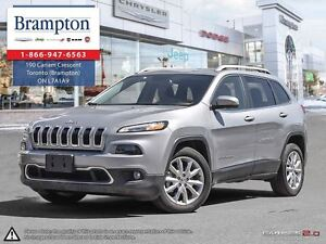 2016 Jeep Cherokee Limited   Low Kms   NAV   Leather   Backup Ca