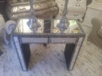 mirrored console table,.. dressing table...