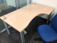 office corner desk table right angle beech