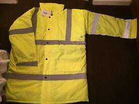ARCO Quilted Hi Viz full length coat, Large
