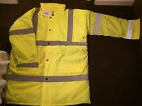 ARCO Quilted Hi Viz full length coat, Large