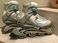 SFR Brooklyn2 Inline Skates (size 6) blue and white