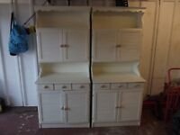 Two shabby chic style dressers with Louvre doors