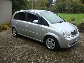 VAUXHALL MERIVA 1.8 DESIGN Low miles MOT 24-10-2017 Beautiful condition