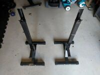 Body Power Squat Stands Bench Press Stands Barbell Freeweights 150kg rated