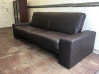 Bed Settee Sofa. Can Deliver. Click Clack faux leather.