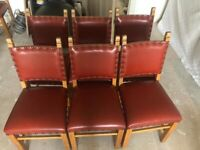 NOW TAKEN - Set of 6 dining chairs