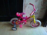 "mynx lil princess bike 12"" wheels with stabilisers"