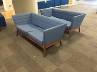 Two Blue Settees