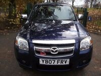 Mazda BT-50 2.5 TD TS2 Double Cab Pickup 4X4 FULL WARRANTY, NEW MOT, WORK HORSE 2007 (07 reg)