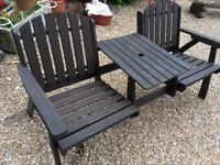 His and Her Garden Seat with Centre Table