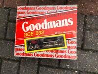 Vintage Goodmans GCE 233 car radio cassette player brand new in box