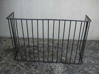 A vintage sturdy metal fire-guard. Ideal for keeping children and pets away from a hot fire.