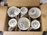 6 New never used mugs in box