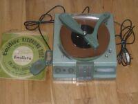 EMIDICTA - VINTAGE PORTABLE DICTAPHONE - SHOP WINDOW PIECE - SPARES OR REPAIR.