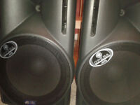 DB Technologies Opera 415 Lyric Bi-amp Powered Active speakers(Never Used) inc Cases and Stands