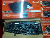 Brand new Microsoft comfort curved ergonomic wired keyboard