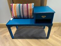 Teal telephone table