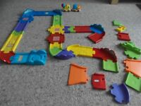 Vtech Toot Toot track with cement mixer and lorry