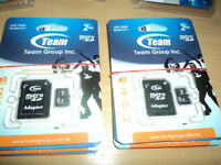 10 Team Group Inc life time warranty Micro SD Cards Size 2 GB.