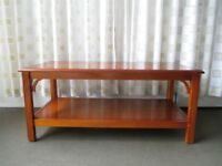 REPRODUCTION YEW WOOD TWO TIER COFFEE TABLE