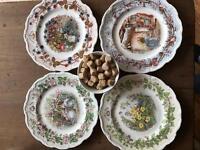 Royal Doulton four seasons plates