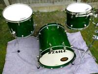Tama Starclassic Maple drums with cases.