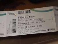 One Depeche Mode ticket Sun 19 Nov Barclaycard Arena Birmingham