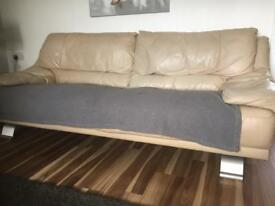 3 & 2 seater real leather sofa