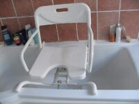 BATH SEAT SWIVEL STYLE AS NEW CON CAN DELIVER