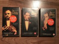 Godfather trilogy on vhs tape
