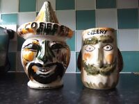 Collectible retro coffee jar & celery pot / see all my ads for more.