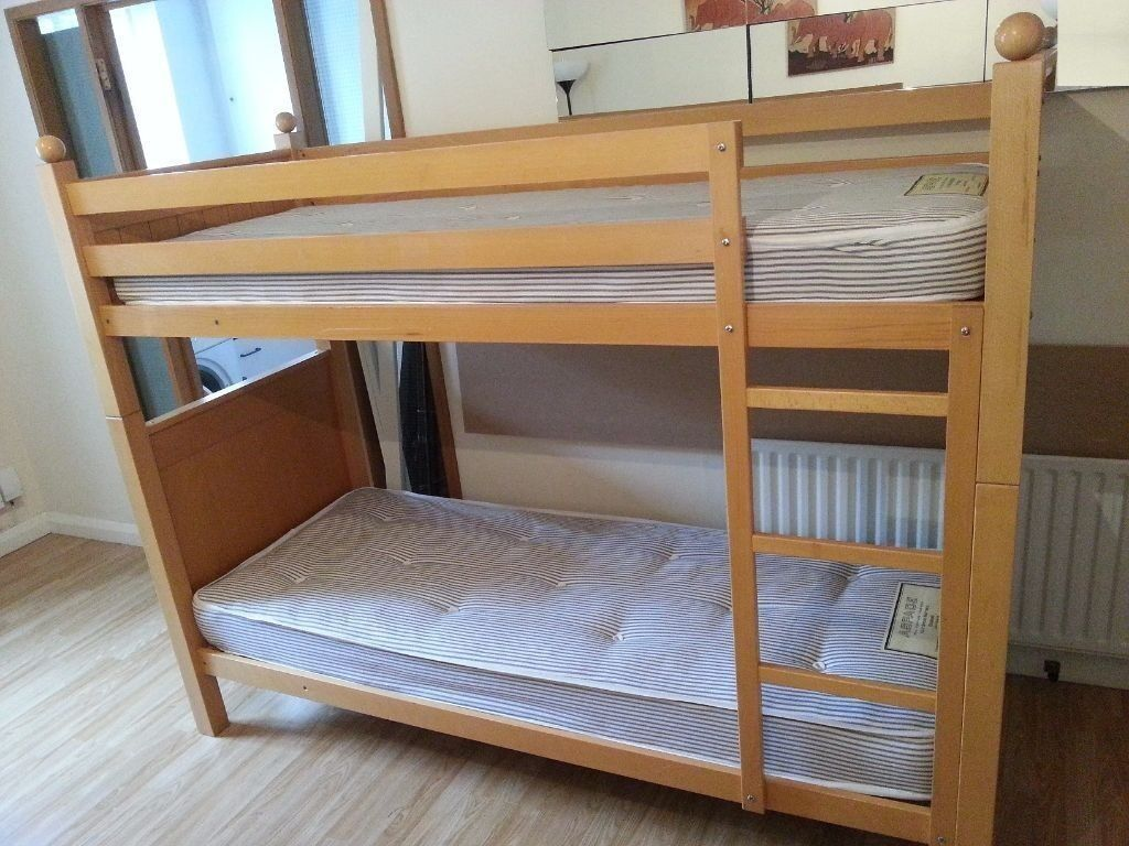 Aspace Solid Beech Bunk Beds Can Be Used As Two Single Beds In