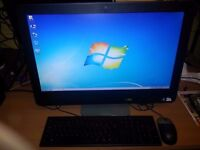 "Dell Optiplex 9010 All-in-one, Intel Dual Core, RAM 4GB, Hard Disk 250GB , Webcam 24"" wide Monitor."