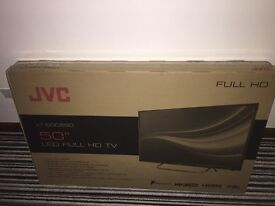 SOLD. Unopened brand new in box JVC 50 inch television