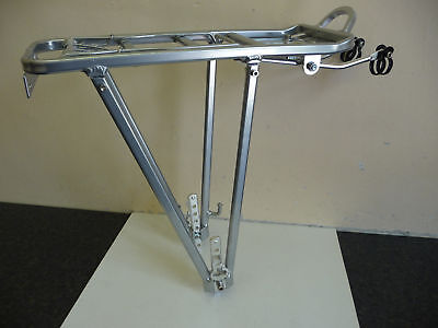 ALLOY Cycle Bike Rear Pannier Rack Carrier with Sprung Clip SILVER New